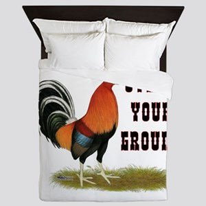 Stand Your Ground Rooster Queen Duvet